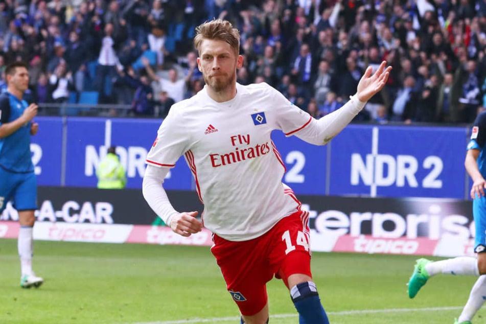 Wird Aaron Hunt auch in Zukunft für den HSV jubeln?