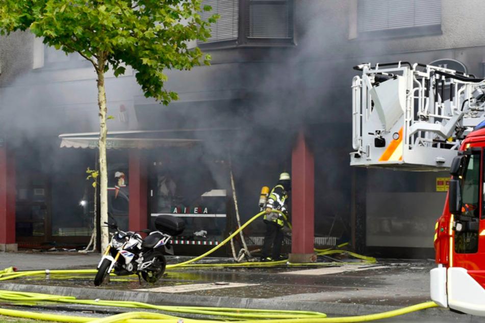 Il negozio di Munich Basing è stato vittima dell'incendio.