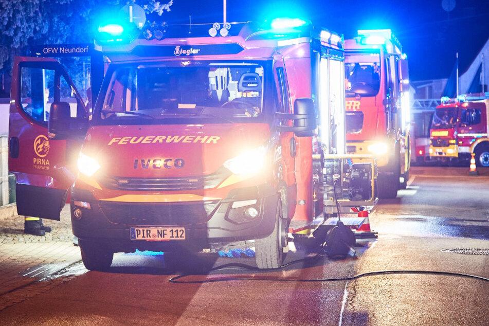 Wegen Küchenbrand: Feuerwehreinsatz in Pirna