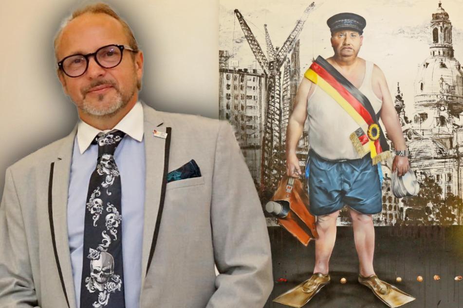 """Graffiti-Künstler provoziert mit """"Jammer-Ossi""""-Gemälde"""