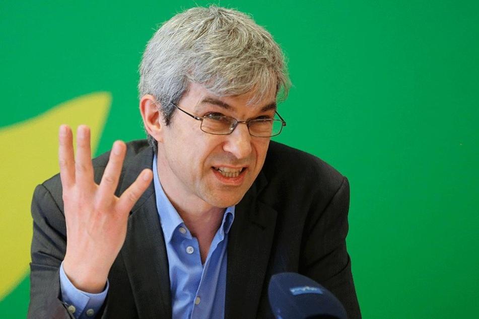 Der Grünen-Landtagsabgeordnete Volkmar Zschocke (49).