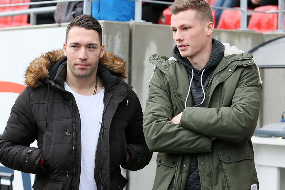 Aykut Öztürk (l.) und Oliver Genausch mussten die komplette Runde als Zuschauer verbringen.