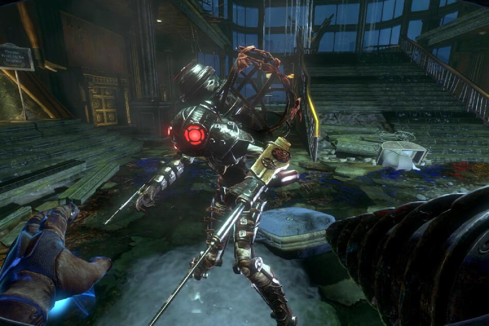 """""""Bioshock 2"""" spielt einige Jahre nach dem ersten Teil. Die Stadt wirkt noch verwüsteter. Zudem gibt es mit der """"Big Sister"""" einen neuen knüppelharten Gegnertyp."""