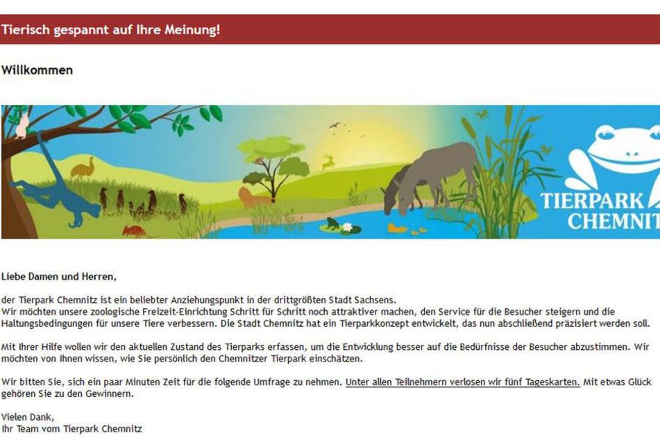 Aktuell läuft die Befragung zum Tierpark.