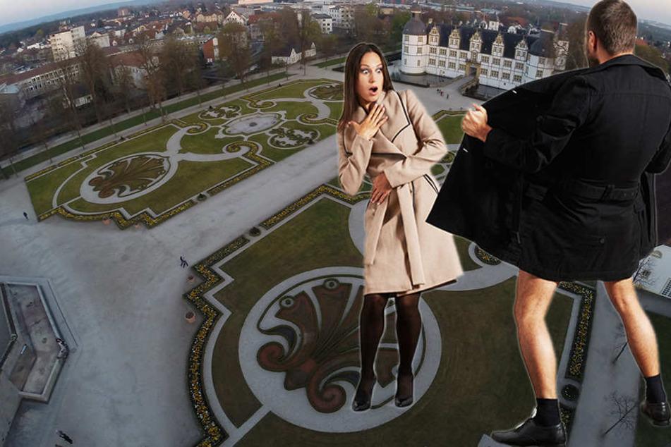 Ekelhafter Anblick: Exhibitionist onaniert vor jungen Frauen