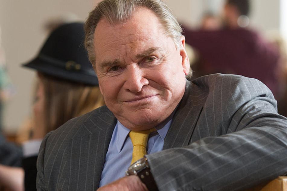 """Fritz Wepper bei einem Pressetermin zu Dreharbeiten der TV-Serie """"Um Himmels Willen""""."""