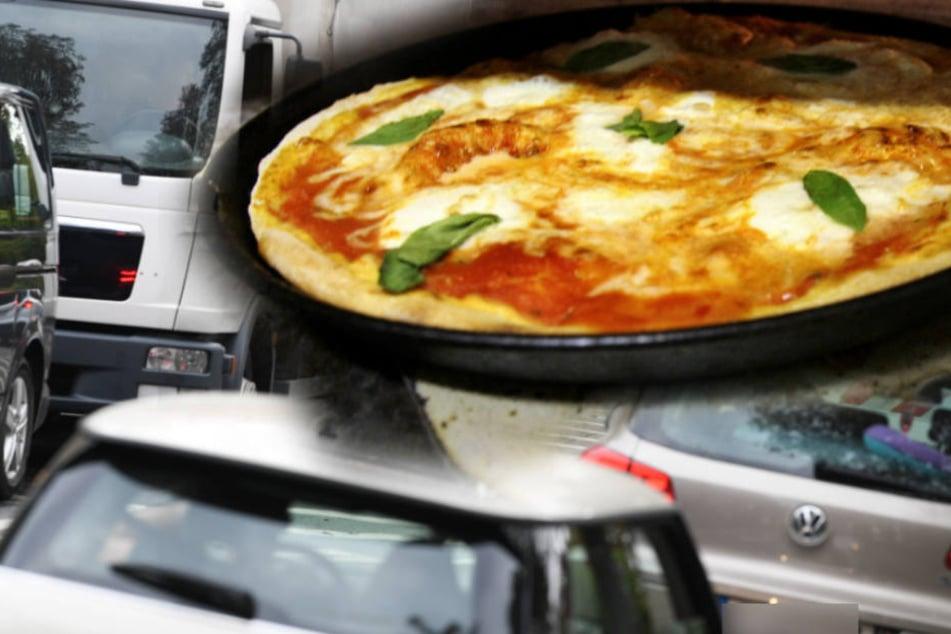 Als die 18-jährige Fahrerin zur Pizza griff, geriet sie in den Gegenverkehr. (Symbolbild)