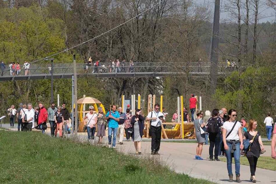 Start nach Maß für die Landesgartenschau: Gut 5000 Besucher kamen am Osterwochenende zum Blumengucken.