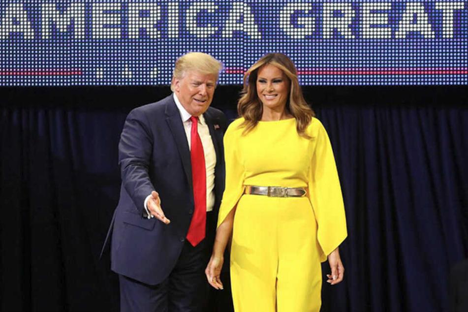 Stilsicher oder unpassend? An Melania Trumps Jumpsuit dürften sich die Geister scheiden.