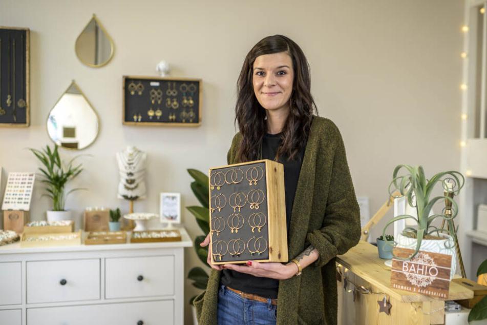 Schmuckdesignerin Christina Gränitz (33) erfüllte sich pünktlich zu Weihnachten den Traum vom eigenen Geschäft.