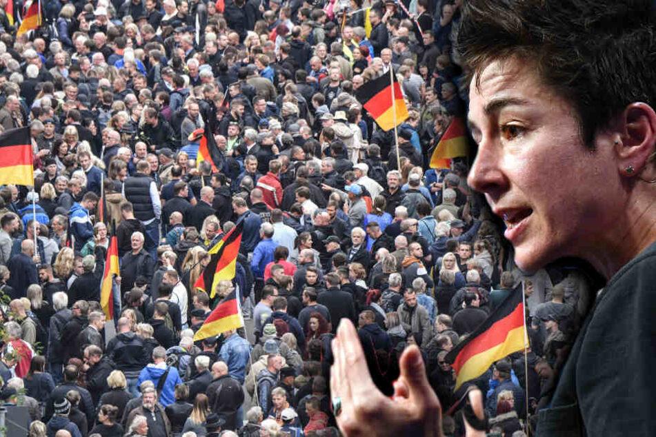 """Dunja Hayali in Chemnitz: Sie geht dahin, wo es wehtut und wird mit """"F****!"""" heim geschickt"""