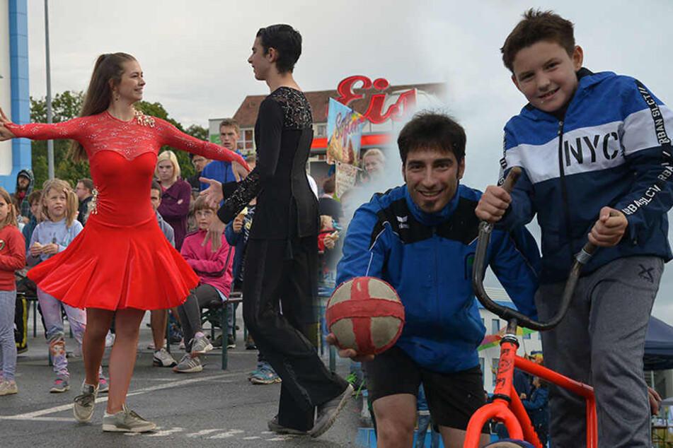 Mittendrin und voll dabei! Sportliche Chemnitzer nehmen Stadion in Beschlag