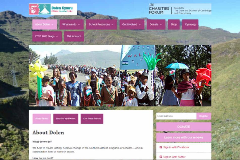 Auf die Webseite der Wohltätigkeitsorganisation Dolen Cymru hätte der Link schon von Anfang an führen sollen.