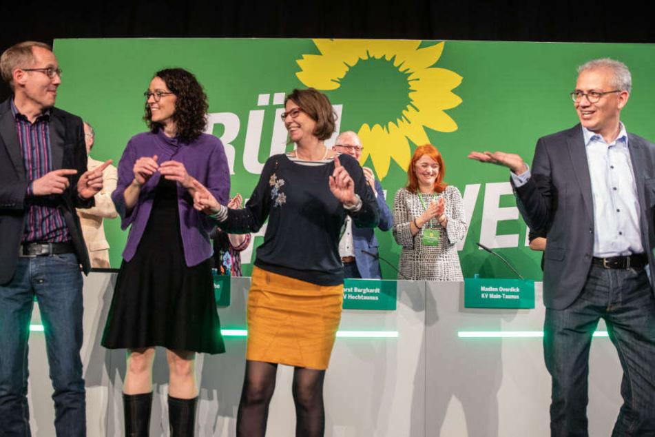 Die damalige Chef-Etage der Grünen bei der Landesmitglieder-Versammlung im vergangenen Dezember.