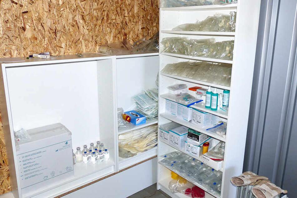 Sind das genau die Gegenstände, die ein Arzt und Sportler benötigen, um Eigenblutdoping zu betreiben?