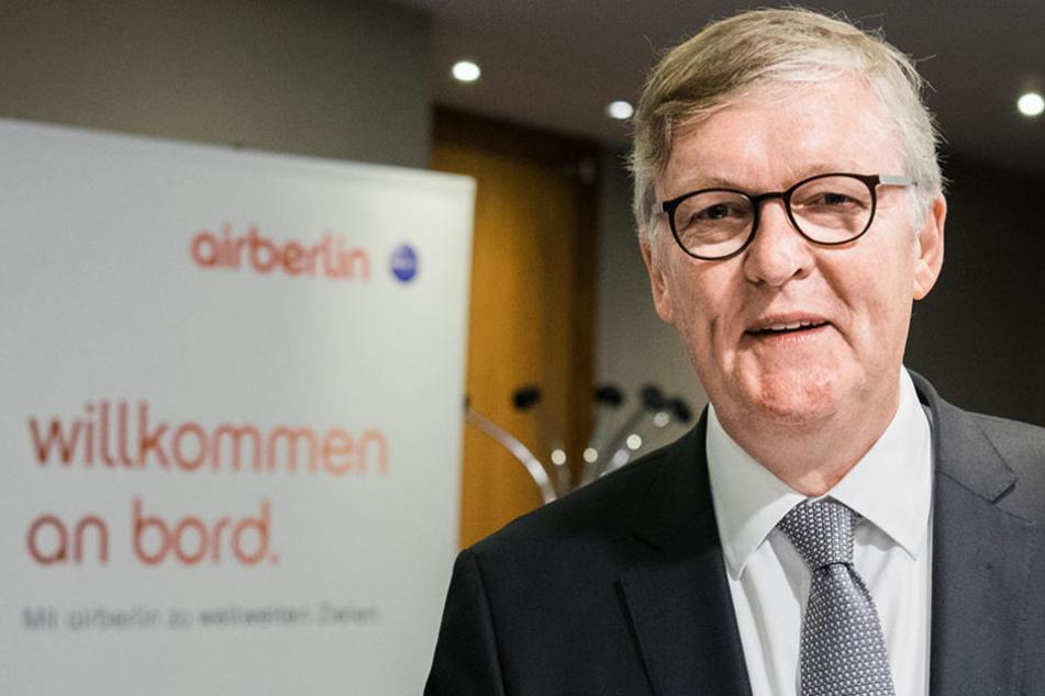 Das Gehalt von Airline-Chef Thomas Winkelmann und seinen Mitarbeitern ist vorerst gesichert.
