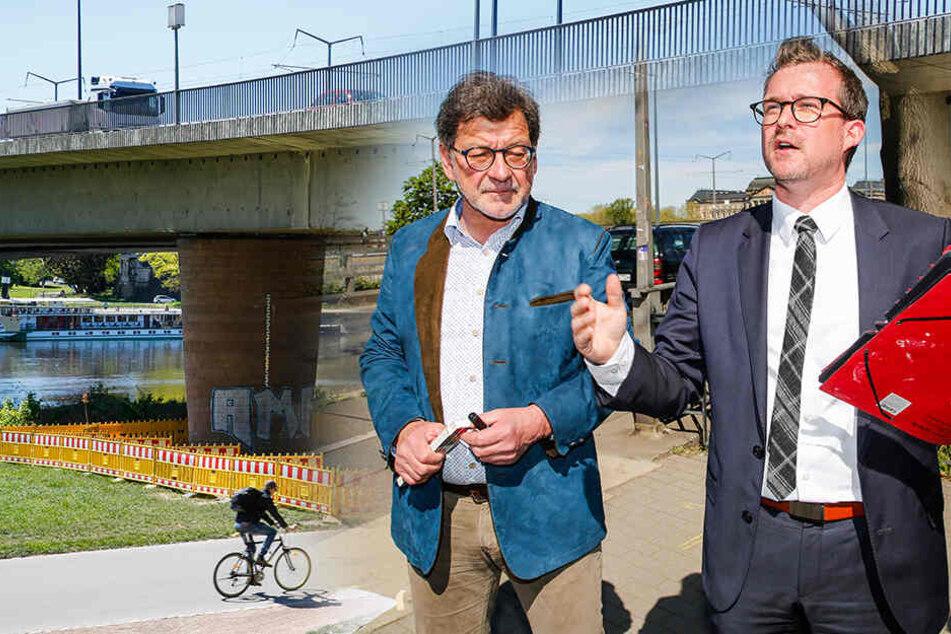 Rathaus hat sich verzockt: Sanierung der Carolabrücke steht auf der Kippe