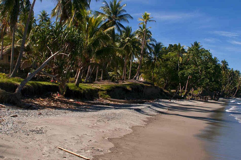 Vor den Salomonen im Südpazifik gab es ein heftiges Erdbeben.