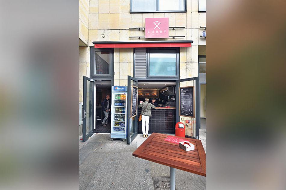 """Der Neue: """"Curry am Schloss"""" an der  Schloßstraße Ecke Wilsdruffer."""