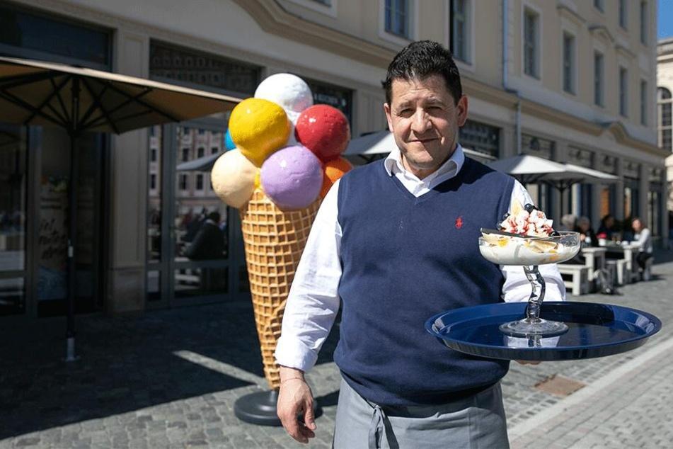 Italiener Landi Kocllari freut sich auf Gäste.
