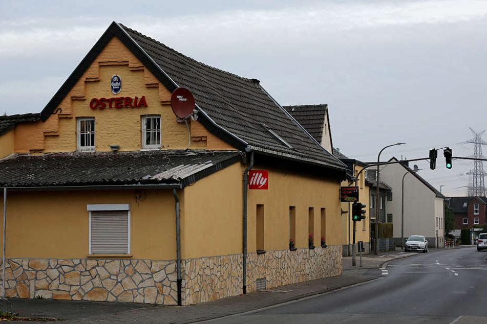 Das Restaurant des mutmaßlichen Haupttäters in Pulheim bei Köln.