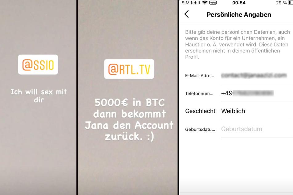 Auf dem Instagram-Profil von Moderatorin Jana Azizi (31) werden zurzeit dubiose Nachrichten verbreitet. (Fotomontage)
