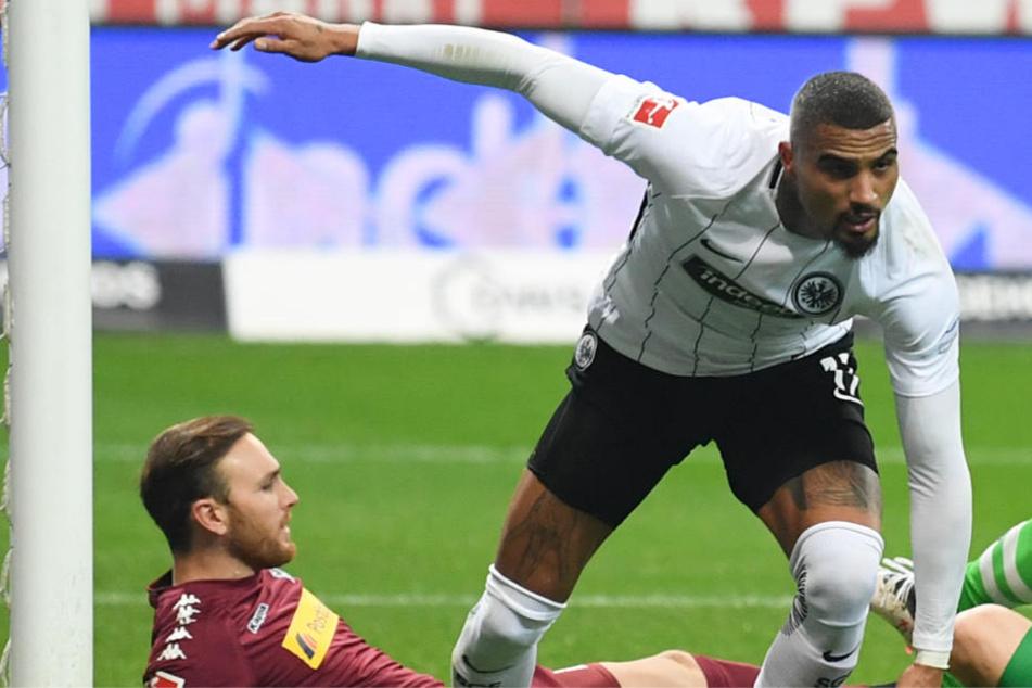 Frankfurts Leader Kevin-Prince Boateng schoss das 1:0 in der ersten Halbzeit.