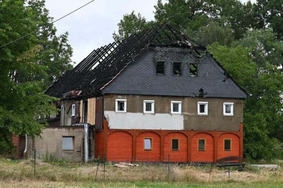 Dieses Umgebindehaus stand am Morgen in Flammen.