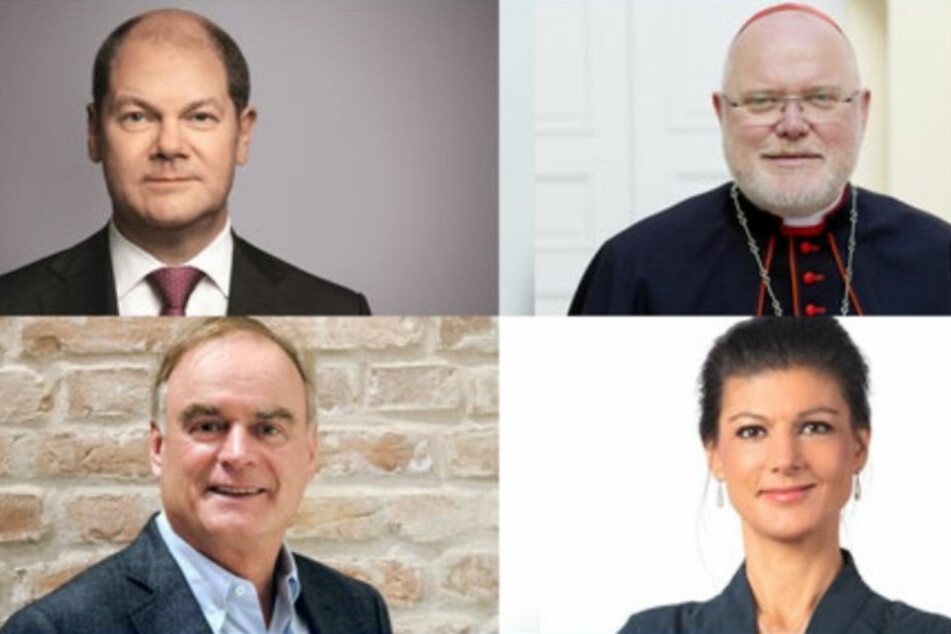 Olaf Scholz, Reinhard Kardinal Marx, Sahra Wagenknecht sowie Georg Kofler bei Anne Will.