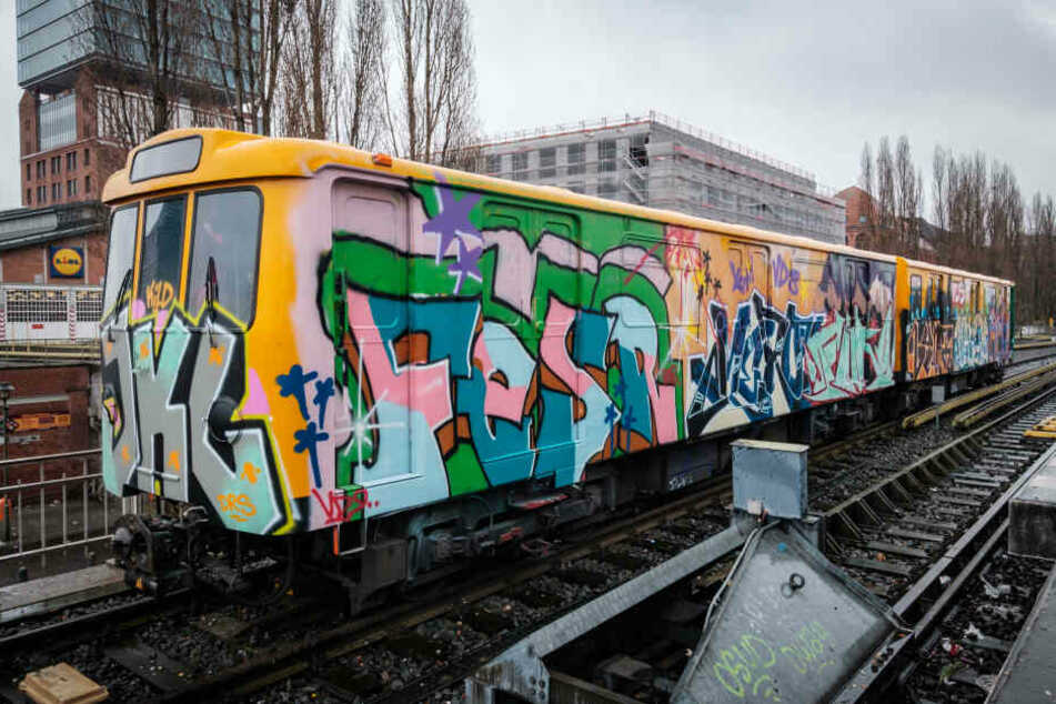 Fast jede zehnte Berliner U-Bahn wurde beschmiert. (Symbolbild aus Januar 2019)