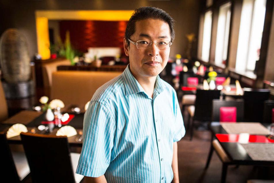Guoyu Luan kassiert bei seinen Gästen eine Gebühr, wenn sie ihren Teller nicht leer essen.
