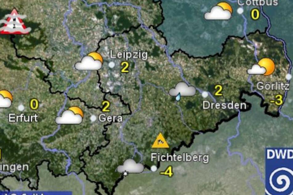 Am Donnerstag gibt es nur auf dem Fichtelberg Minusgrade.
