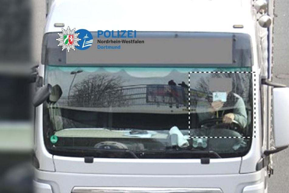 """""""Schnappschuss des Tages"""". Die Polizei Dortmund war von diesem Blitzerfoto durchaus amüsiert."""