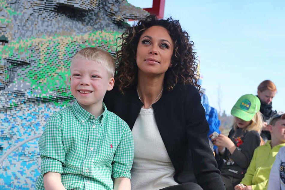 Lilly Becker (42) mit Sohn Amadeus (8).