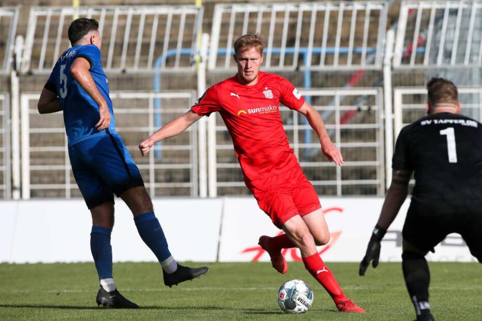 Gerrit Wegkamp war der Tor-Vorbereiter des Spiels: Er lieferte unter anderem die Vorlage für Denis Jäpel zum 4:0 für den FSV Zwickau und traf dann selbst in der zweiten Halbzeit.
