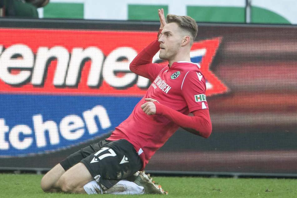 Marvin Ducksch erzielte in der 13. Spielminute das 1:0 für Hannover 96.