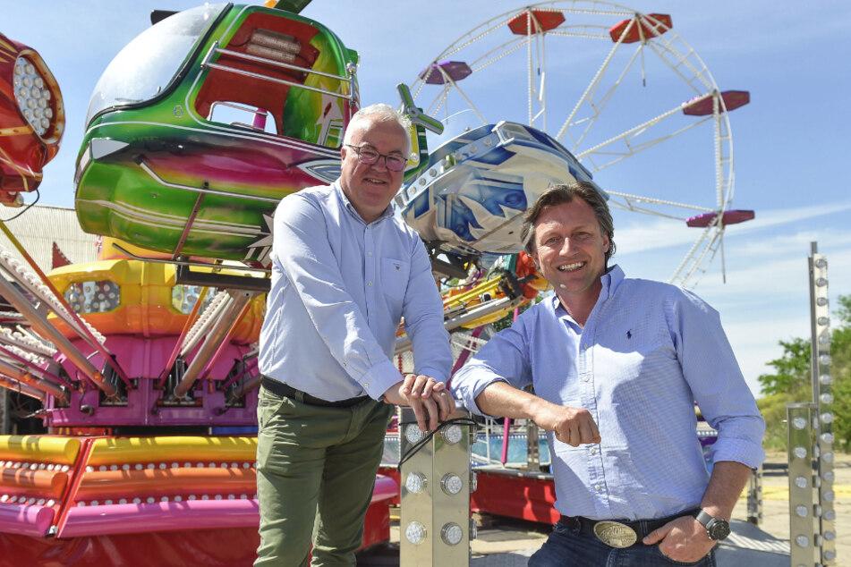 """""""Family City""""-Veranstalter Frank Schröder (links) und Mirko Meinel."""
