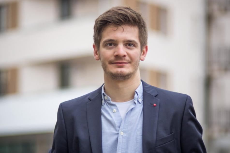 Alexander Geißler (30) ist als SPD-Kandidat für Mittelsachsen im Gespräch.