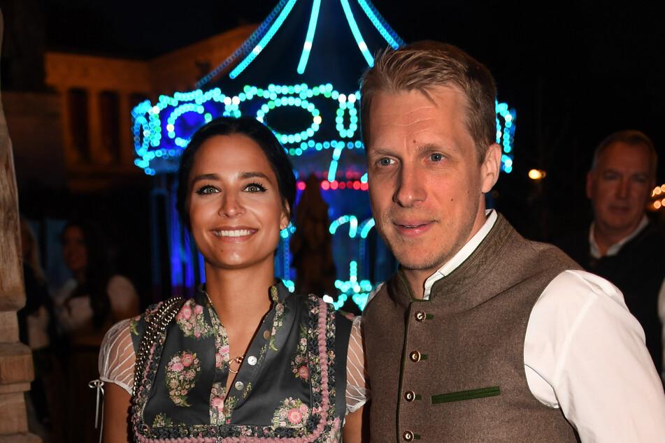Amira (28) und Oliver Pocher (43) beim Oktoberfest im September 2019. Nach Angaben von Amira lernte sie Oli tatsächlich bei der Dating-App Tinder kennen.