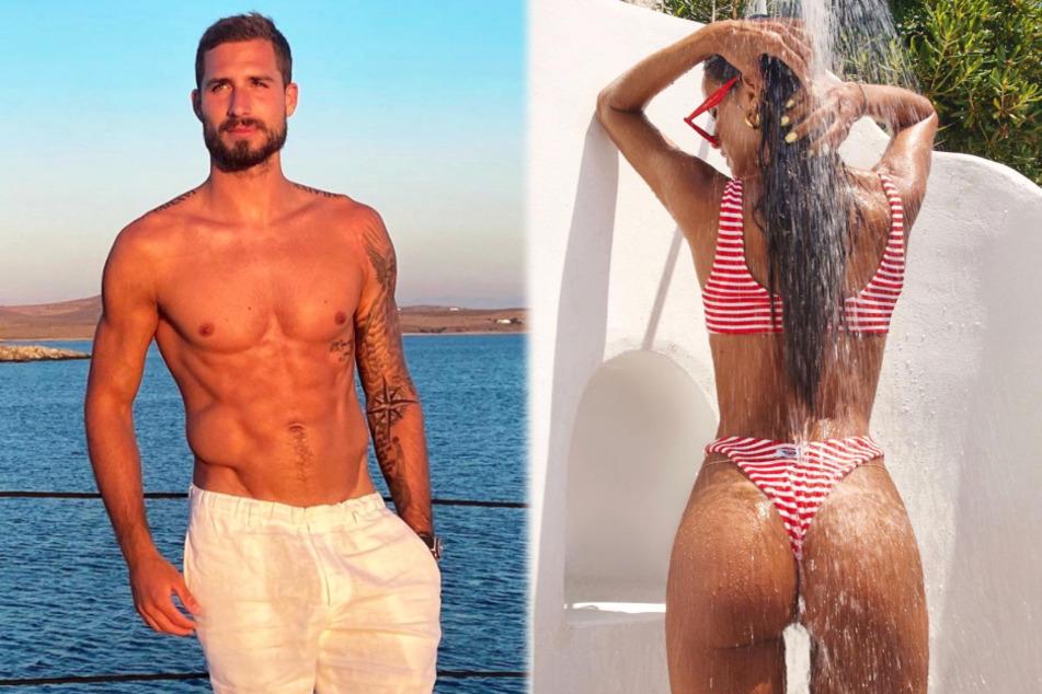 Kevin Trapp (30) und Izabel Goulart (35) verbrachten ihren gemeinsamen Sommerurlaub in einem Luxus-Hotel auf der griechischen Insel Mykonos.