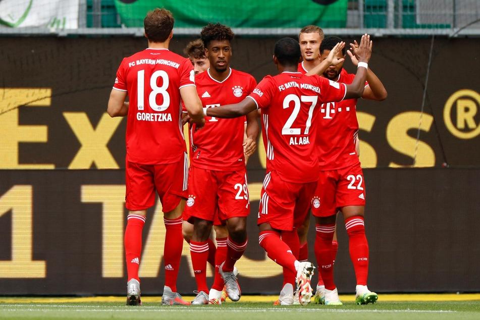 Kingsley Coman und seine Teamkollegen des FC Bayern München hatten gegen den VfL Wolfsburg bereits früh Grund, um zu jubeln.