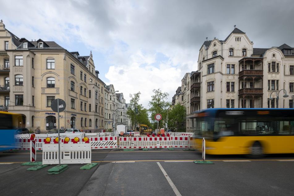 Sackgasse: Wer die Barbarossastraße entlang fährt, stößt auf eine Vollsperrung.