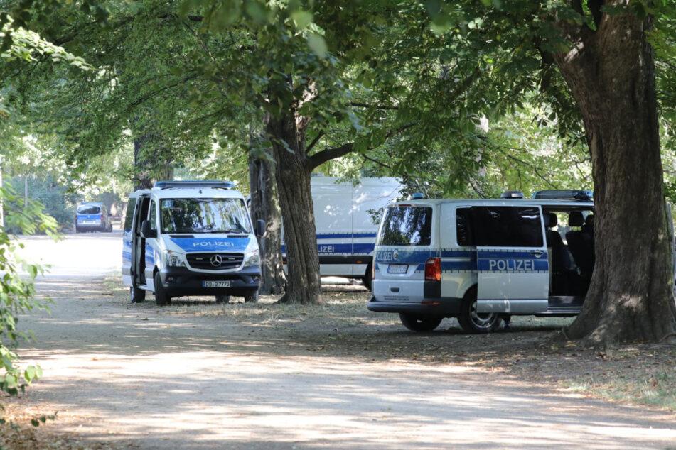 Seit Mittwochmorgen ist wieder ein Großaufgebot der Polizei am Inselteich im Einsatz.
