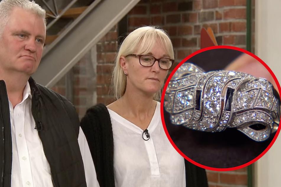 """Bares für Rares: """"Bares für Rares"""": Verkauf von Diamantring scheitert fast, doch dann hört Expertin Entstehungsjahr"""