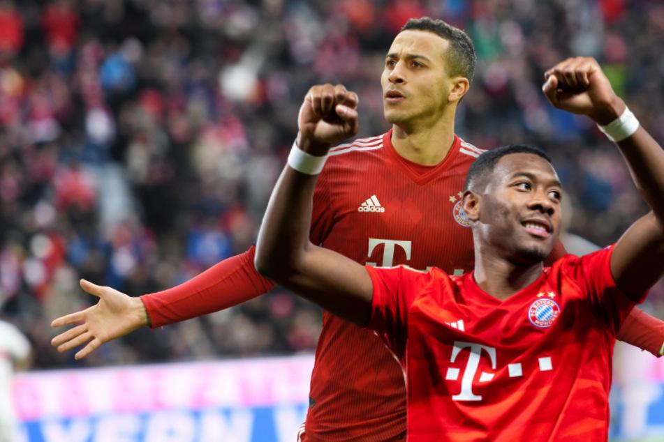 Thiago (29,l) und David Alaba (28) stehen bis 2021 beim FC Bayern unter Vertrag.