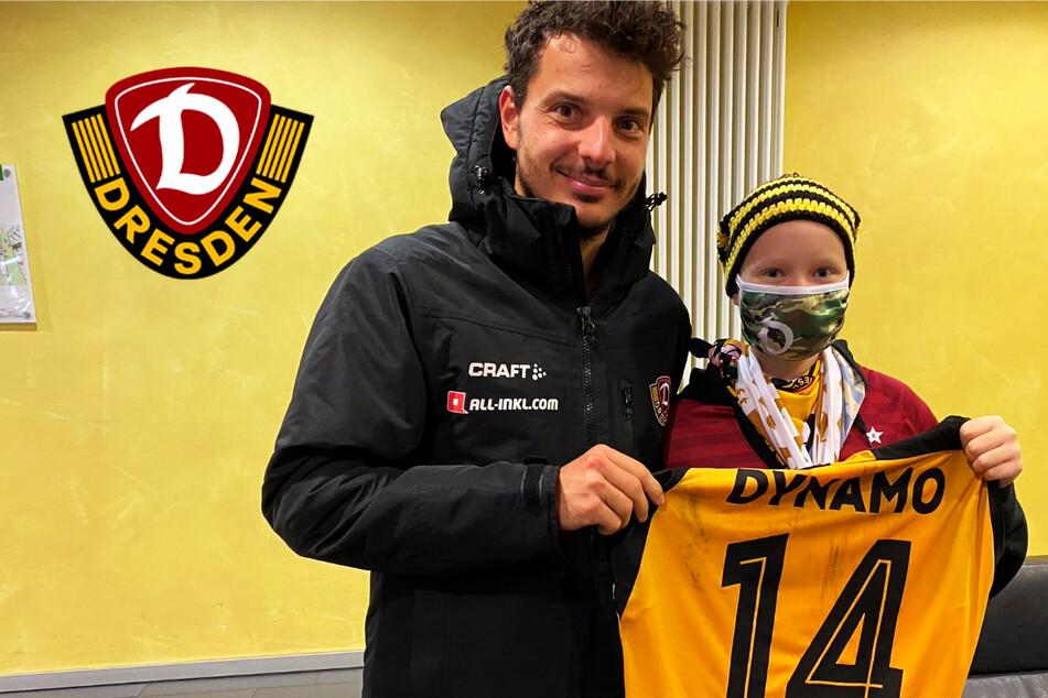 Dynamo-Stürmer Hosiner hat einst den Krebs besiegt: Jetzt macht er der 14-jährigen Tina Mut