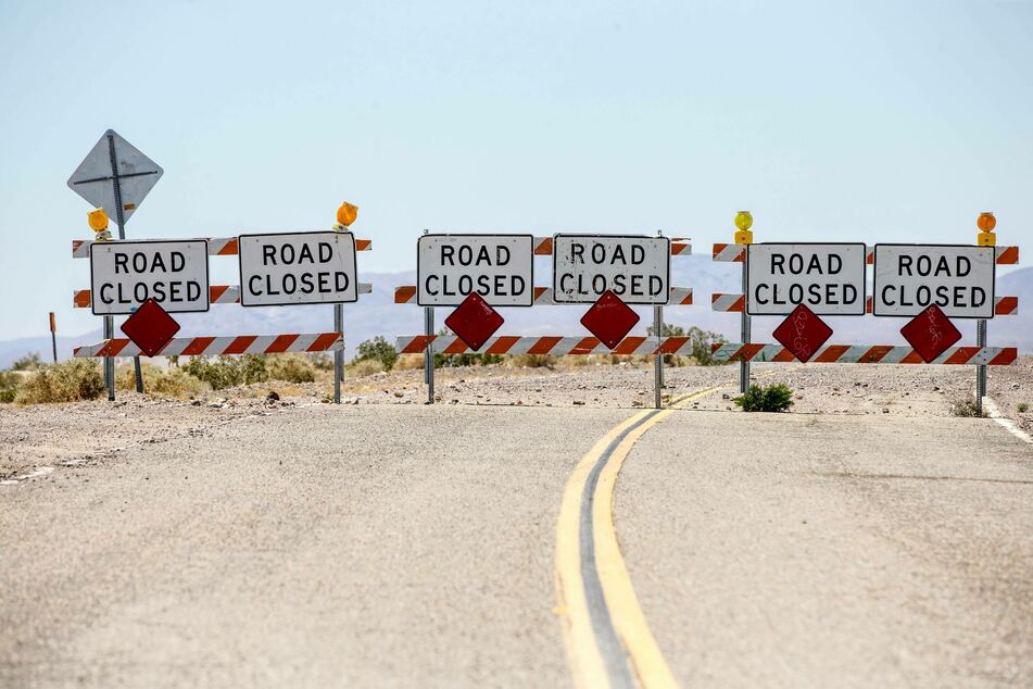 A long stretch of southbound Highway 95 was closed soon after the horrific accident in which five cyclists died.