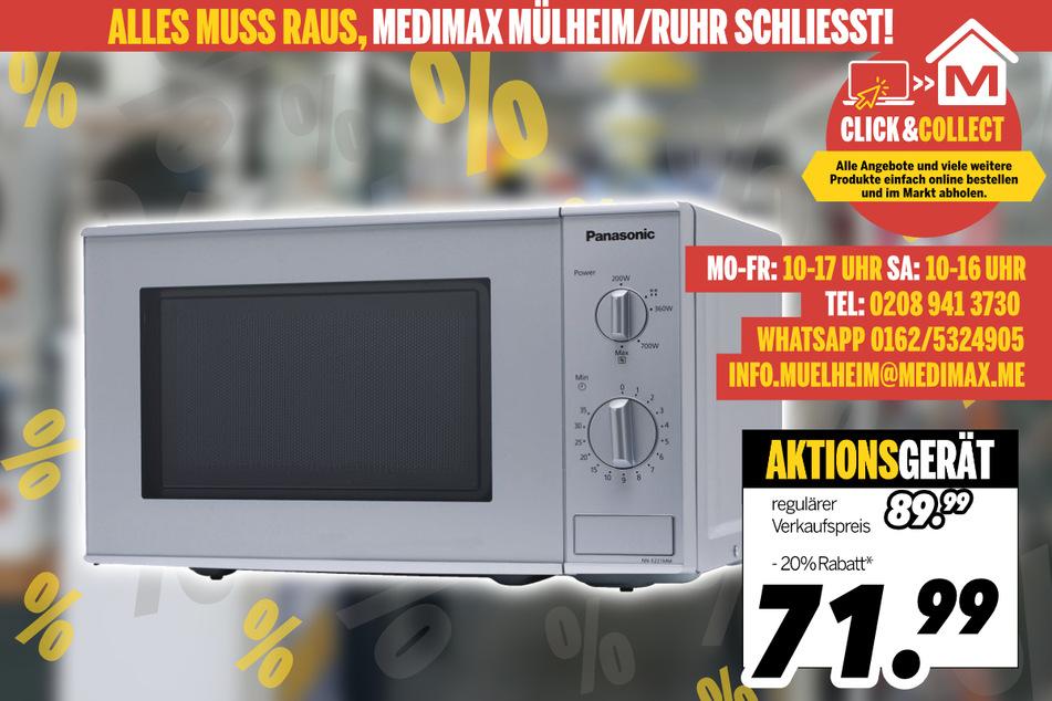 Mikrowelle von Panasonic für 79,99 Euro