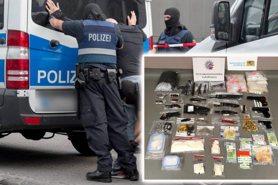 Großrazzia im Rockermilieu: Drogen, Handgranate und Waffen gefunden, sieben Festnahmen