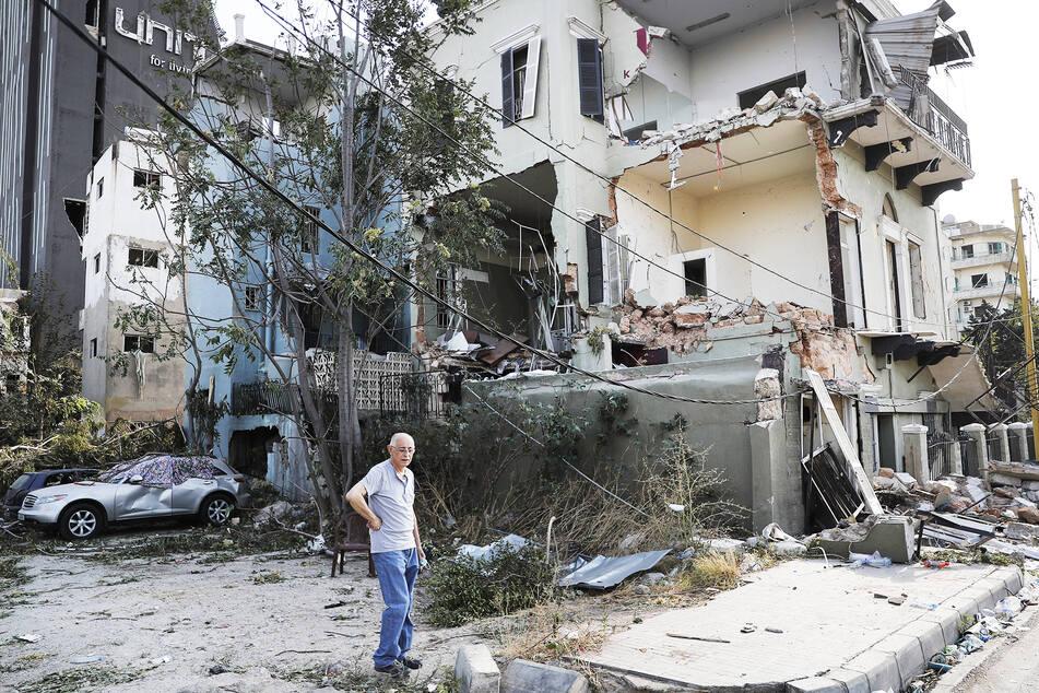 Die Explosion verursachte in einem großen Radius enorme Schäden an Häusern.